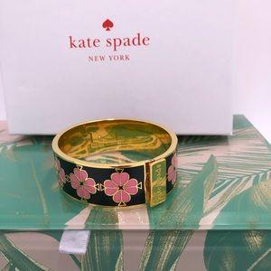 Kate spade floral enamel bangle bracelet